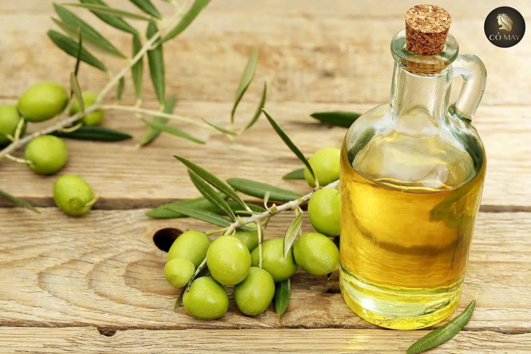 chăm sóc tóc bằng dầu oliu