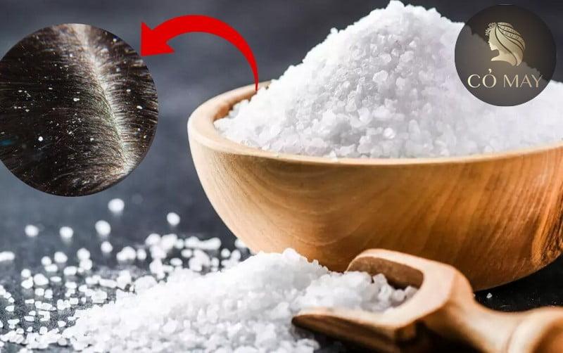 Muối là nguyên liệu để nấu ăn nhưng còn là một trong những nguyên liệu dùng để trị gàu vô cùng tuyệt vời.